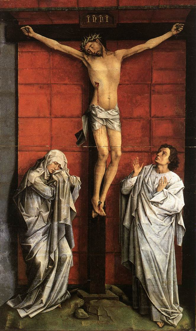 VanDerWeyen Chirst on the Cross with Mary and John