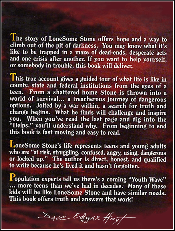 "Backpage Info ""Lonesome Stone"""