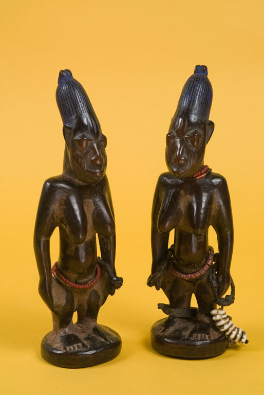 Carved figures - female ibeji twins